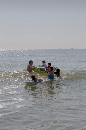 Matthew Swarts, My Brother and His Entire Family Afloat in the Ocean, Long Beach Island, New Jersey, 2012.