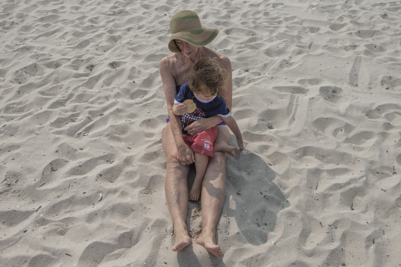 Matthew Swarts, My Mother and Her Youngest Grandchild, Long Beach Island, New Jersey, 2012.